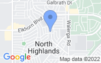 Map of North Highlands CA