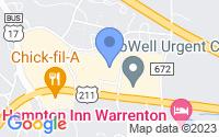 Map of Warrenton VA