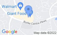 Map of Burke VA