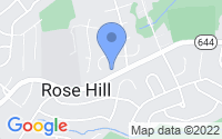 Map of Rose Hill VA