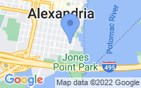 Map of Alexandria VA