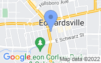 Map of Edwardsville IL