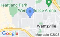 Map of Wentzville MO