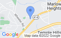 Map of Marlow Heights MD