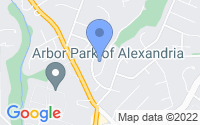 Map of Alexandria VA