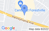 Map of Forestville MD