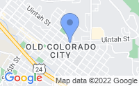 Map of Colorado Springs CO