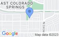 Map of Colorado Springs CO
