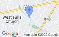Map of Falls Church VA