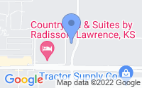 Map of Lawrence KS