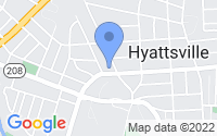 Map of Hyattsville MD
