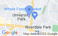 Map of University Park MD