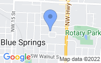 Map of Blue Springs MO