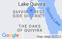 Map of Lake Quivira KS