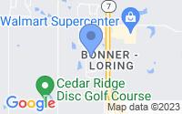 Map of Bonner Springs KS