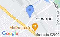 Map of Derwood MD