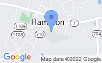 Map of Hamilton VA