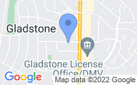 Map of Gladstone MO