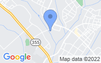 Map of Clarksburg MD