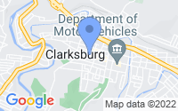Map of Clarksburg WV