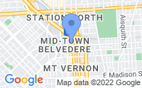 Map of Baltimore MD