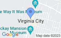 Map of Virginia City NV