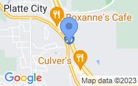 Map of Platte City MO