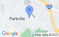 Map of Parkville MD