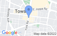 Map of Towson MD
