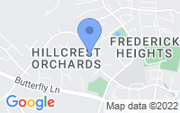 Map of Frederick MD