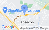 Map of Absecon NJ