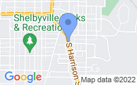 Map of Shelbyville IN