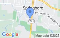 Map of Springboro OH