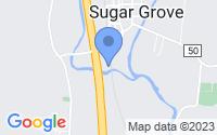 Map of Sugar Grove OH
