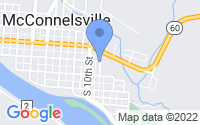 Map of McConnelsville OH