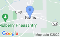 Map of Gratis OH