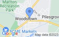 Map of Woodstown NJ