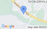 Map of Sicklerville NJ