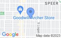 Map of Denver CO