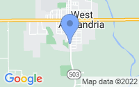 Map of West Alexandria OH