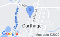 Map of Carthage IN