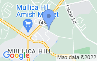 Map of Mullica Hill NJ