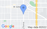 Map of Denver CO