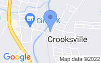 Map of Crooksville OH