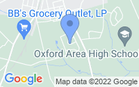 Map of Oxford PA