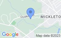 Map of Mickleton NJ