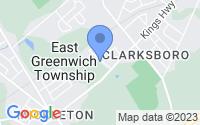 Map of Clarksboro NJ