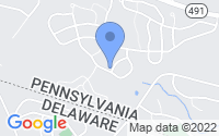 Map of Garnet Valley PA