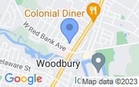 Map of Woodbury NJ