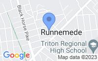 Map of Runnemede NJ